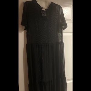 Brand new black sheer cover up